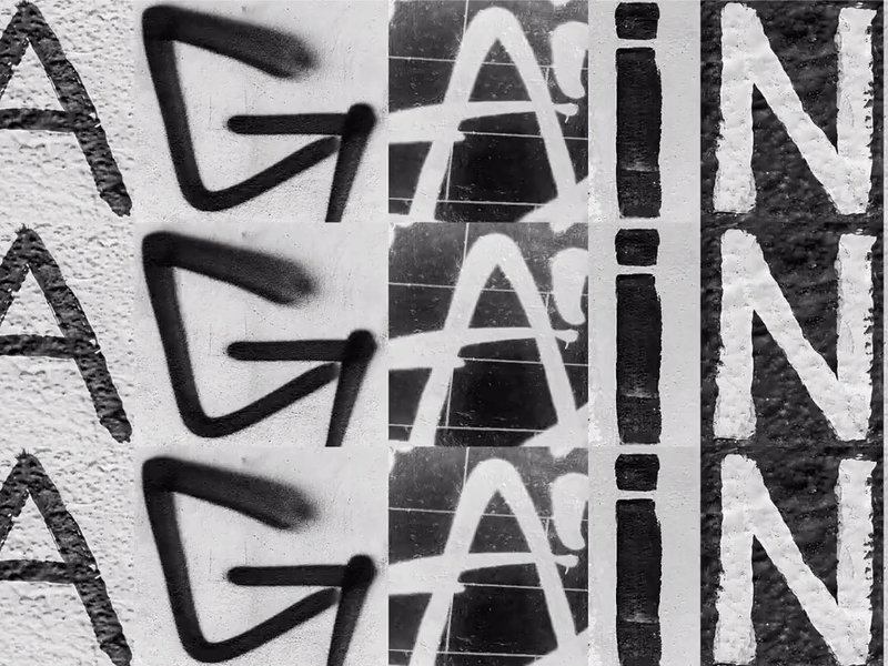 This typeface was made from the Berlin Wall's graffiti