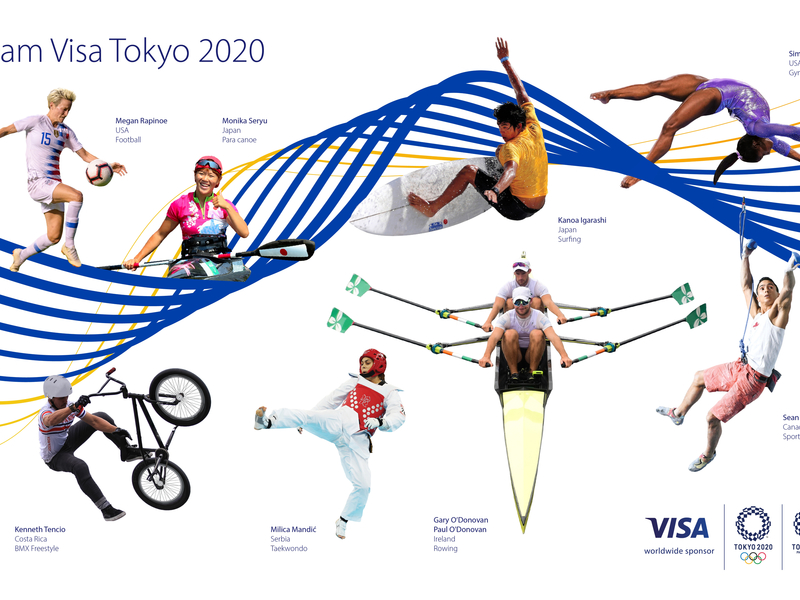 Megan Rapinoe, Simone Biles and Katie Ledecky are on Visa's roster of athletes for the 2020 Olympics