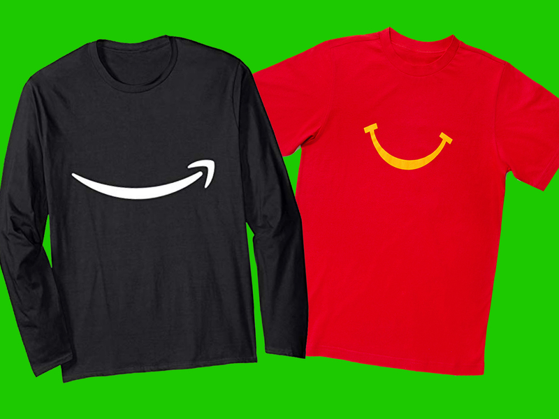 Would you rather wear Amazon's disembodied grin or McDonald's?