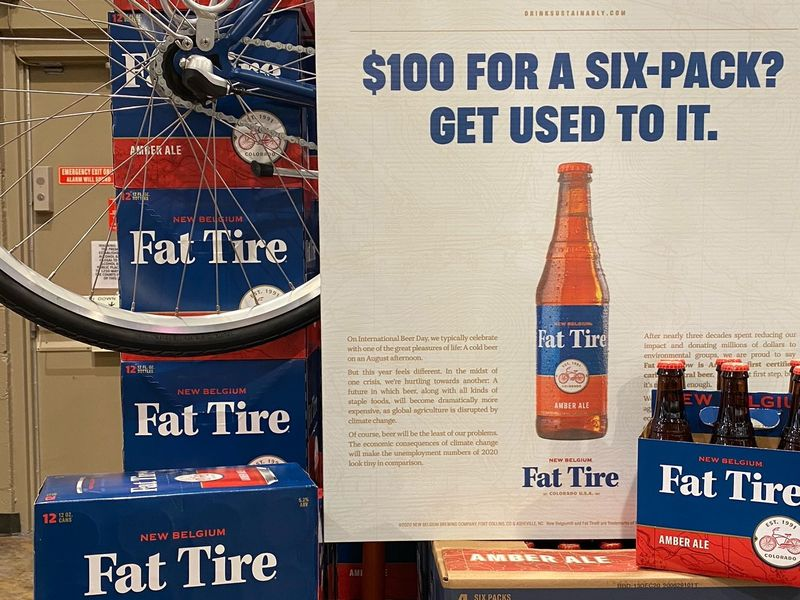 Fat Tire hikes the price of its six-pack to $100 to prove a point on climate change