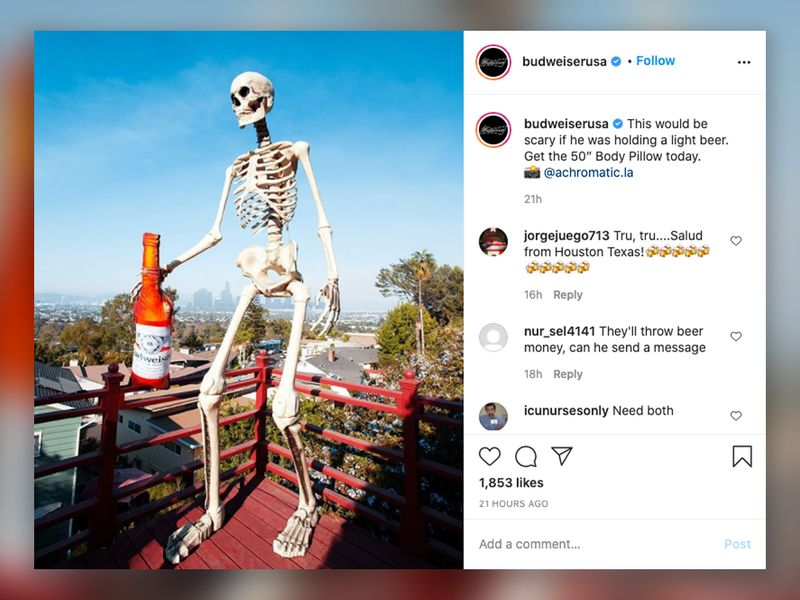 Home Depot S Sold Out Giant Halloween Skeletons Creep Into Brands Social Feeds Ad Age