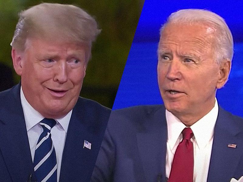 Biden wins ratings race in dueling town halls