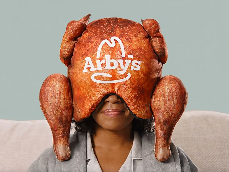 Arby's deep-fried turkey pillow cushions your head during your Thanksgiving food coma