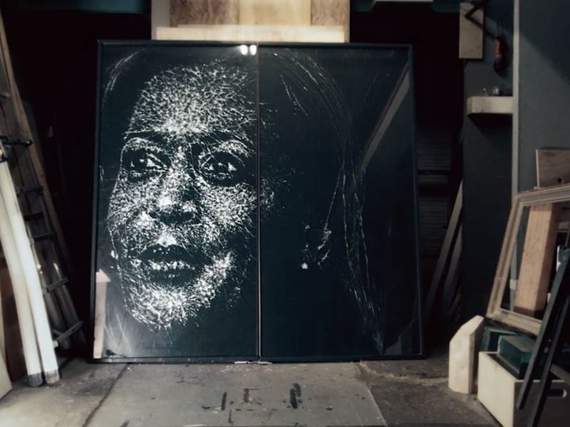 This glass portrait of Kamala Harris embodies how she shattered the glass ceiling | Ad Age