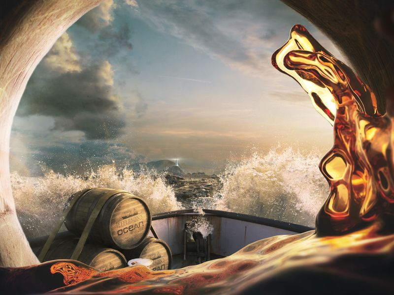How Pernod Ricard is backing its sea-aged bourbon   Ad Age