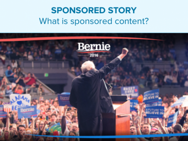 Bernie Sanders Campaign Buys 'Sponsored Story' Ad on Politico
