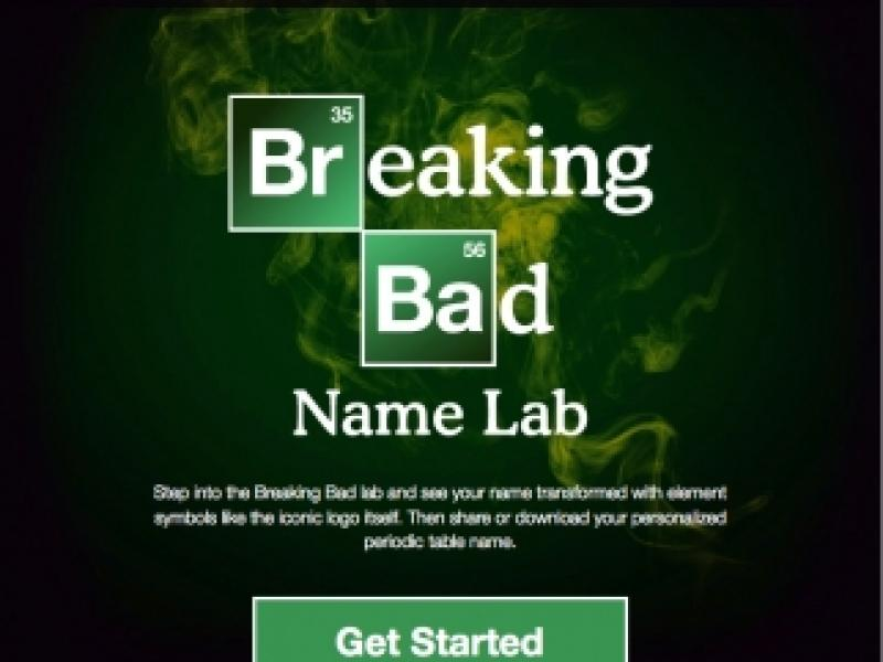 Turn Your Name into the 'Breaking Bad' Logo | AdAge