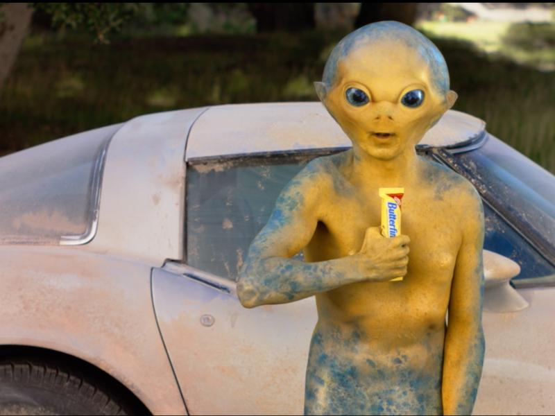 Butterfinger updates tagline with an alien touting a better