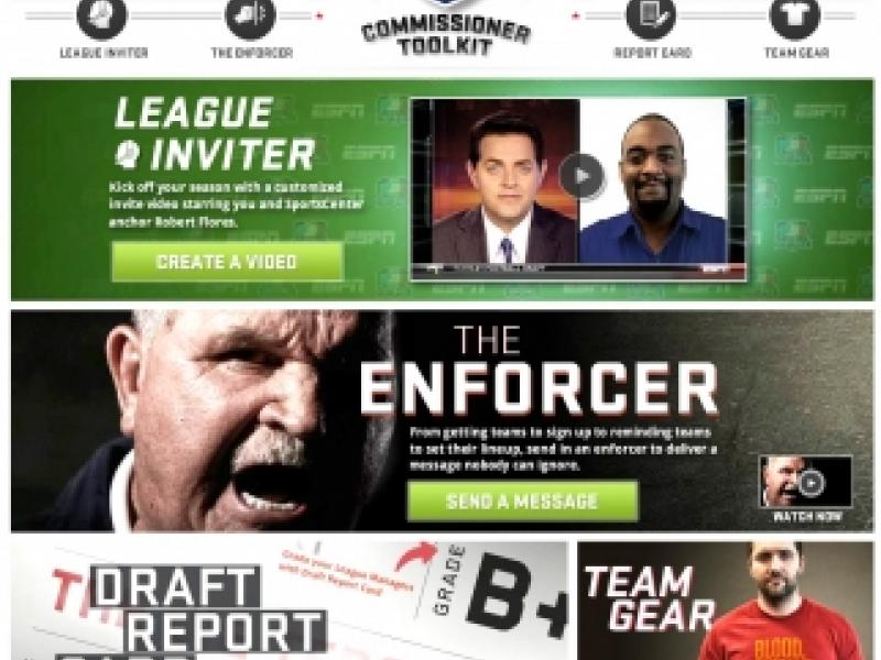ESPN : Fantasy Football Commissioner Kit   AdAge