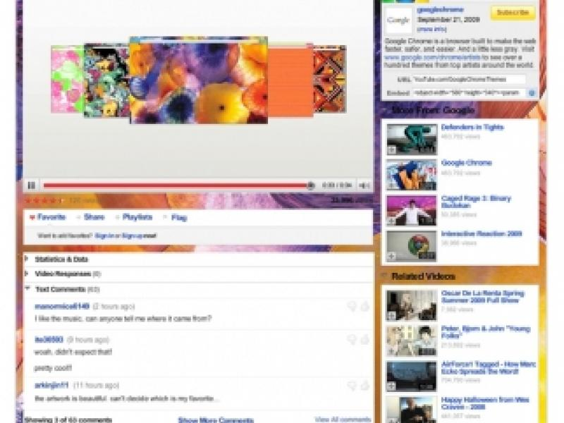 Google Chrome : YouTube Chrome Themes | AdAge