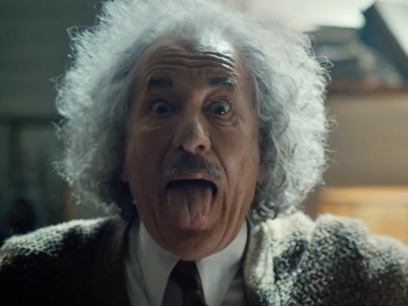 Geoffrey Rush as Einstein Plays Lady Gaga on the Violin in NatGeo Super Bowl Ad