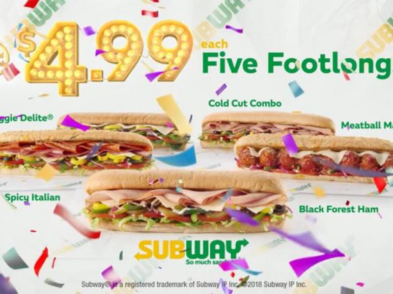 picture relating to Printable Subway Menu known as Forget about Subways $5 Footlong, Its $4.99 (For Previously) AdAge