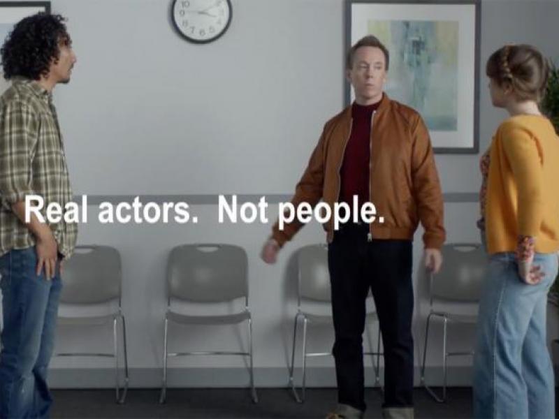 Real actors  Not people ' Watch Progressive spoof those