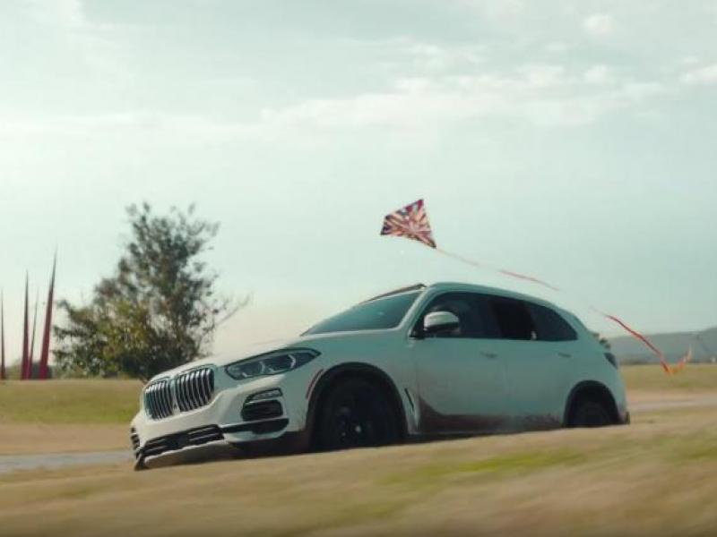 In marketing stunt, BMW drives in the straightest line