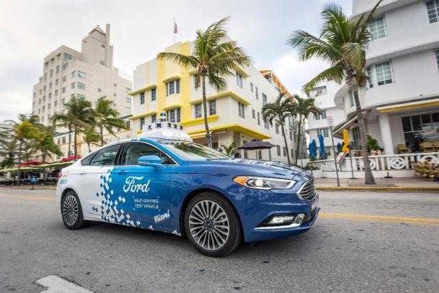 Ford Autonomous Vehicle Testing In Miami