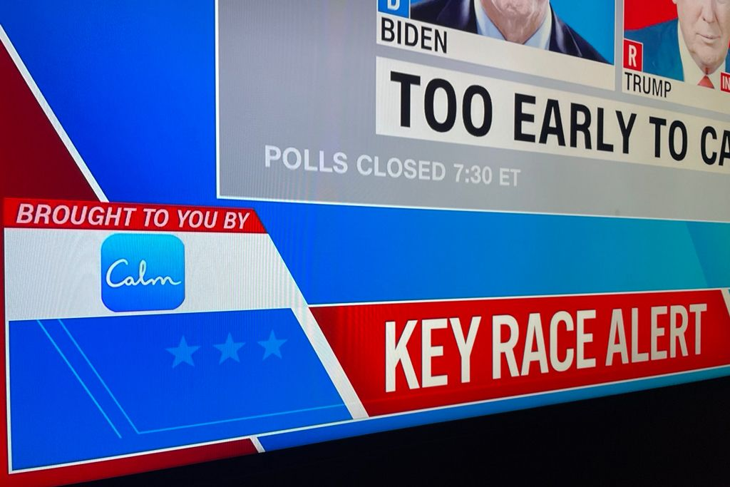 How the Calm app won Election Night | Ad Age