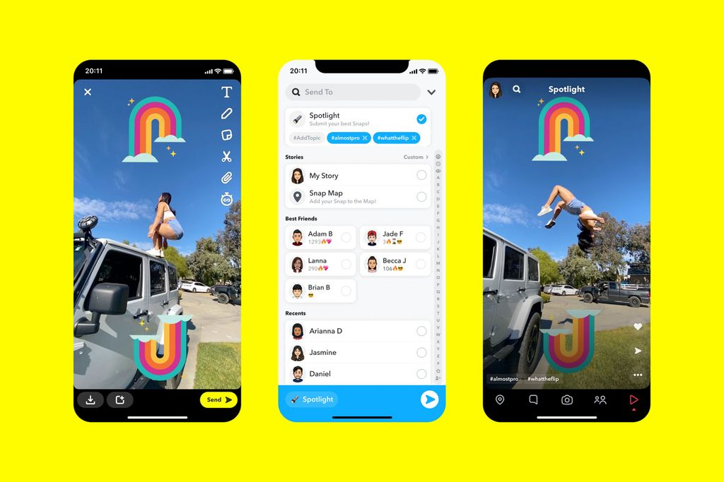 Snapchat Launches TikTok Competitor, Will Pay $1MA Day To Creators