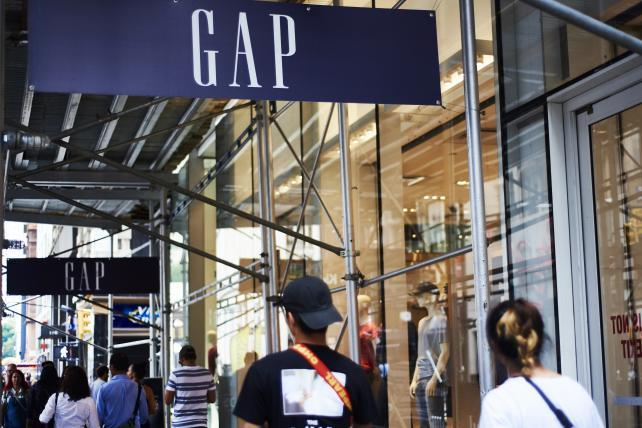 dece195add1 Gap tumbles after sales decline extends woes at namesake brand