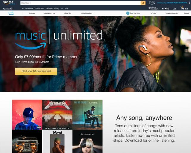 Amazon's New Music-Streaming Service Goes Up Against Spotify