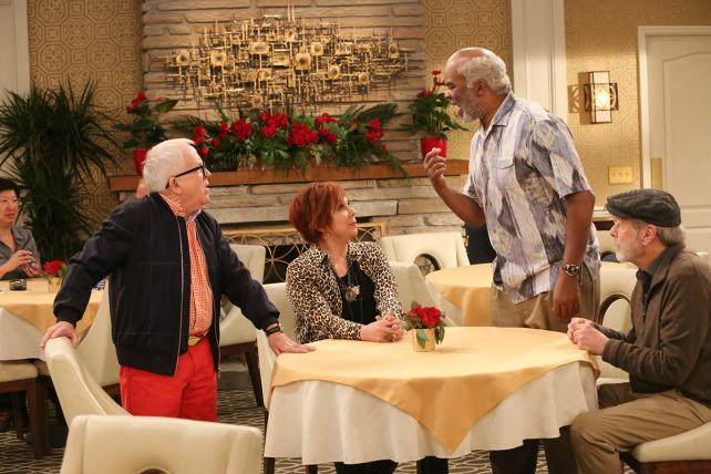 Leslie Jordan, Vicki Lawrence, David Alan Grier and Martin Mull in 'The Cool Kids,' premiering Fridays at 8:30 p.m. this fall on Fox.