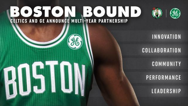 c489e1bde GE Pays Boston Celtics Over  7 Million a Year for Ads on Jerseys