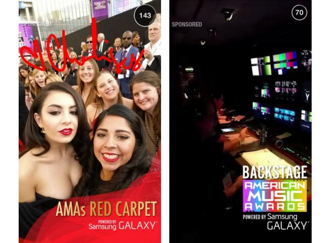 Snapchat Debuts New Ad Format With American Music Awards