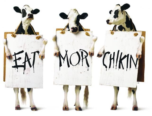 graphic about Eat Mor Chikin Printable Sign called Printable