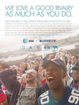 AT&T/DirecTV Ad: We're the Competition Cable Needs