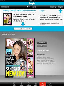 Print Subscribers Rejoice: People Magazine IPad App Is Free for You