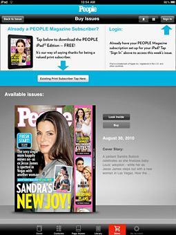 Print Subscribers Rejoice: People Magazine IPad App Is Free