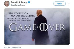 HBO rebukes Trump for 'Game Over' tweet on Mueller