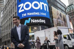Zoom soars to $16 billion value in stock market debut