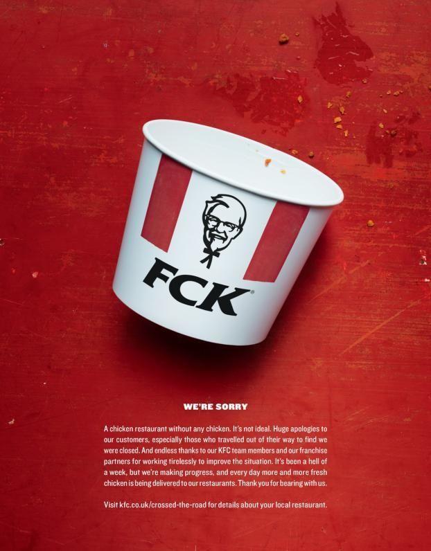 KFC: Apology Ad