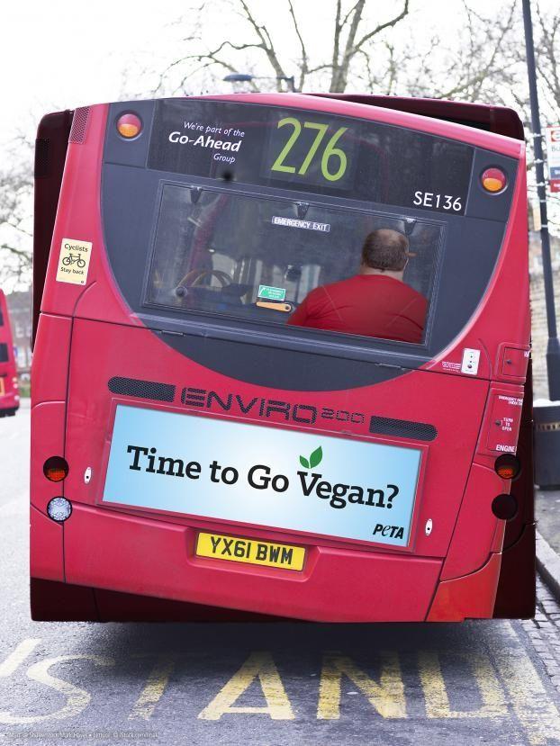 Go Vegan bus ad