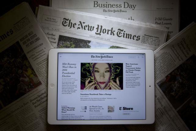 Digital Nears a Third of New York Times Ad Revenue
