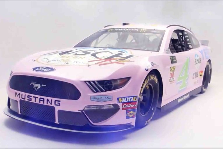 Busch Beer reveals a millennial-themed race car, and (of course) it's millennial pink