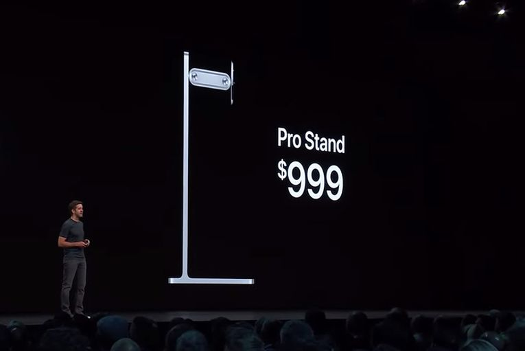 Apple just announced it's selling a Mac monitor stand for $999