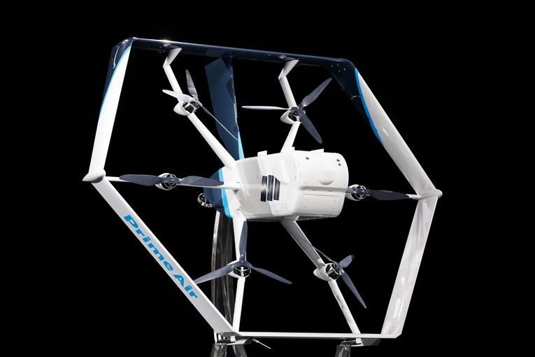 Amazon unveils a futuristic helicopter-plane hybrid drone for deliveries