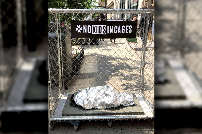 NYC calls cops on caged-children agency stunt