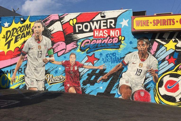 Powerade: Power has no gender mural