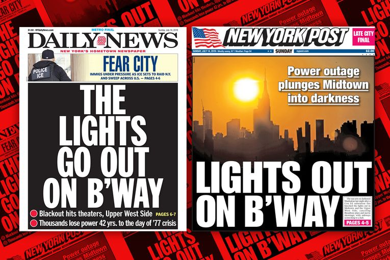 NYC's tabloids are totally in sync—two days in a row