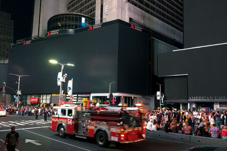 Here's what Times Square looks like with partial ad-blocking
