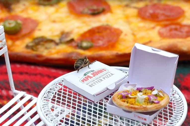 Papa John's made a mini pizza for bees