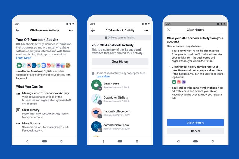 Facebook finally delivers a 'clear history' tool, but changes name to avoid confusion
