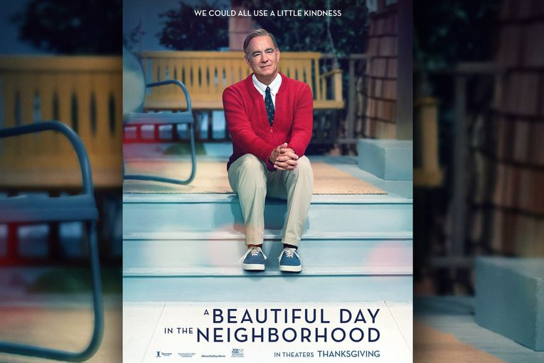 This new poster for the Mr. Rogers movie starring Tom Hanks is pretty perfect