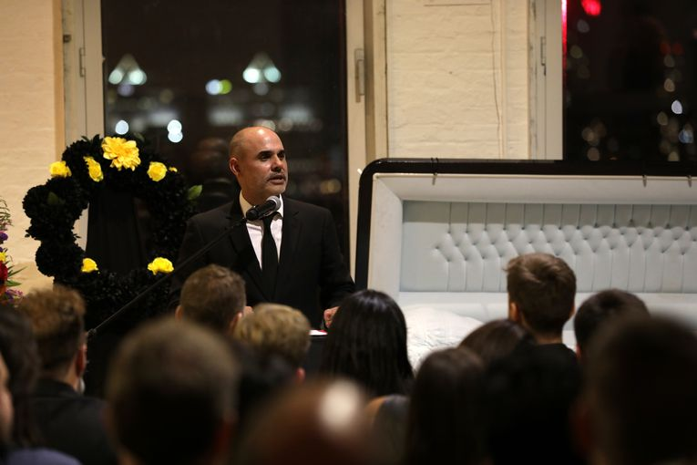 What you missed at Barton F. Graf's 'funeral'