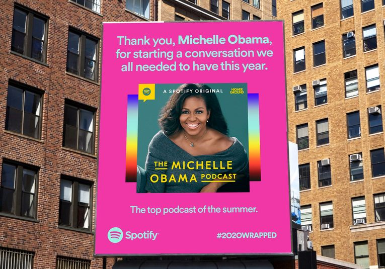 Spotify's annual 'Wrapped' campaign celebrates the artists and podcasters who helped us endure 2020
