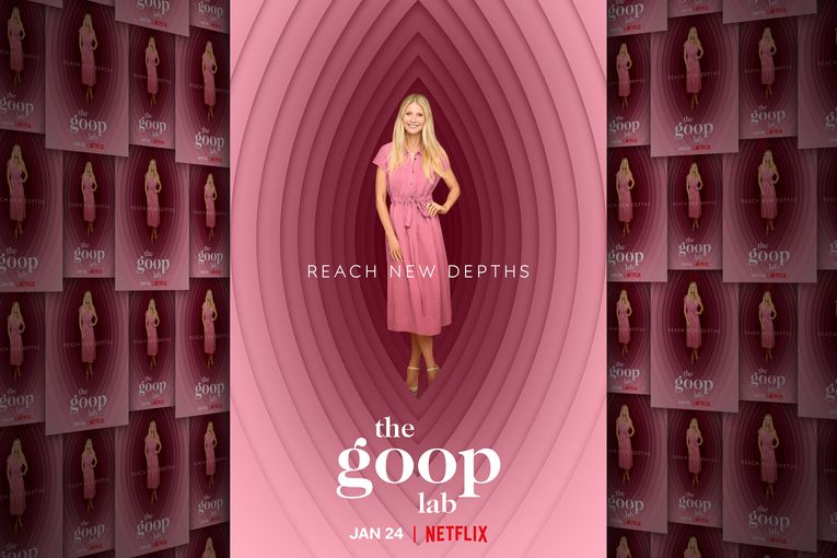 Georgia O'Keeffe meets Looney Tunes in Netflix's 'The Goop Lab' poster