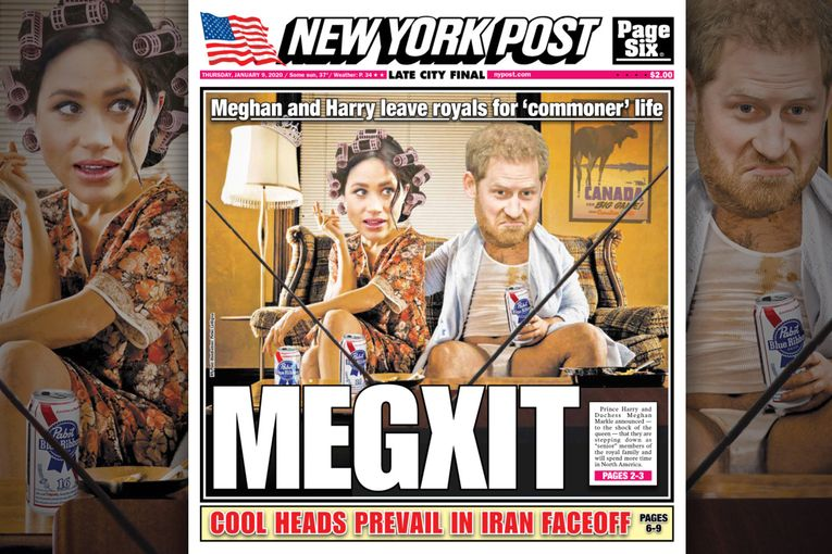 The New York Post visualizes Harry and Meghan living their best lives