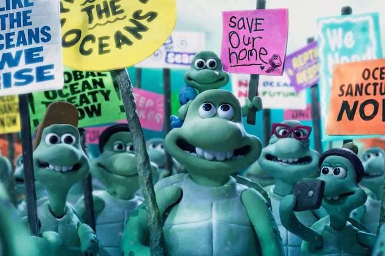 Olivia Colman and David Harbour play mother and father turtles in Aardman's heartbreaking animated film for Greenpeace